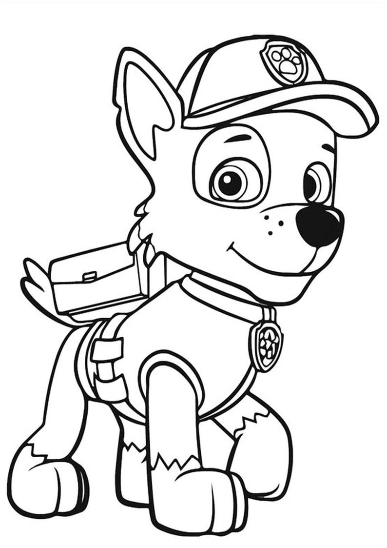 Kolorowanka Rocky Psi Patrol Kolorowanki Bohaterowie Zabawki