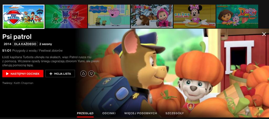 Psi Patrol online na Netflix