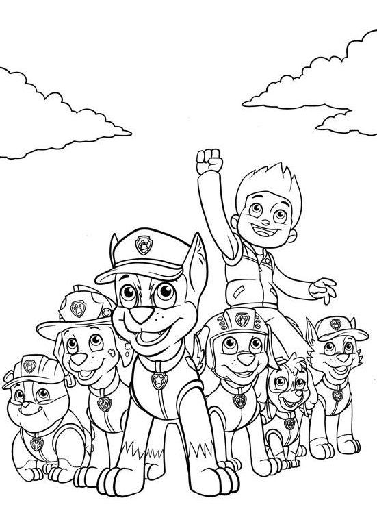 Kolorowanka Psi Patrol Psi Patrol Kolorowanki Bohaterowie