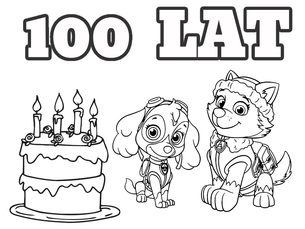 Psi Patrol - Urodzinowa kolorowanka do druku