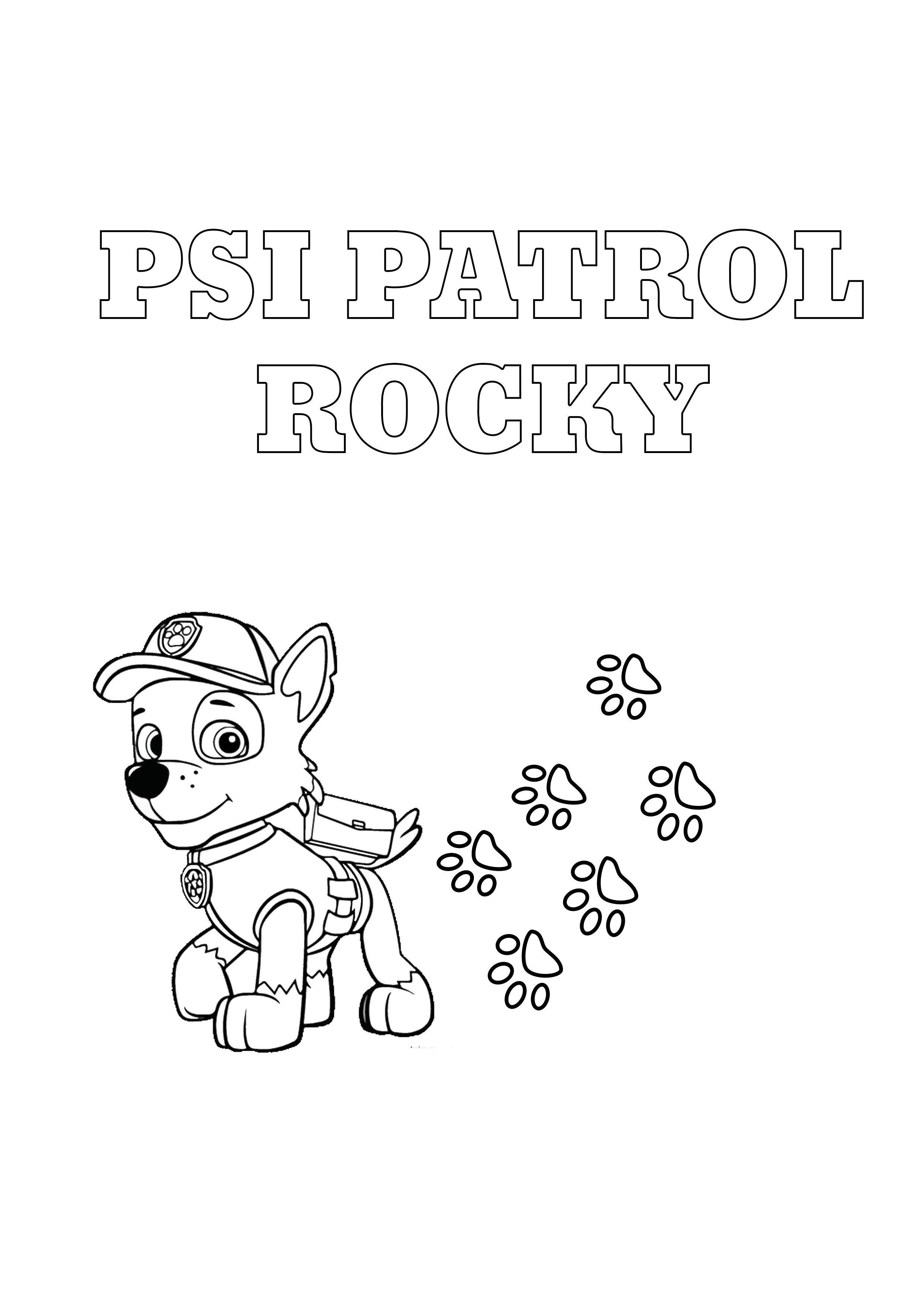 Psi Patrol Rocky - kolorowanka do wydruku