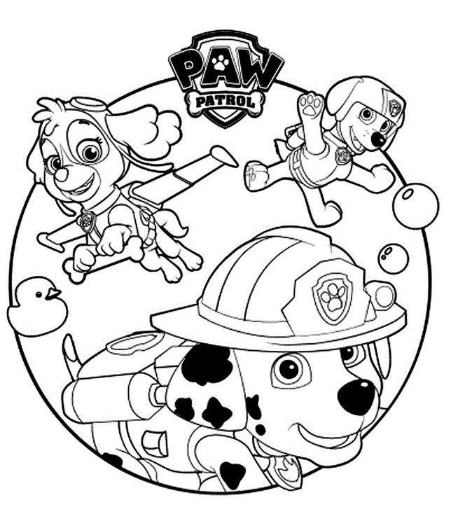 Psi Patrol Kolorowanka Do Wydruku