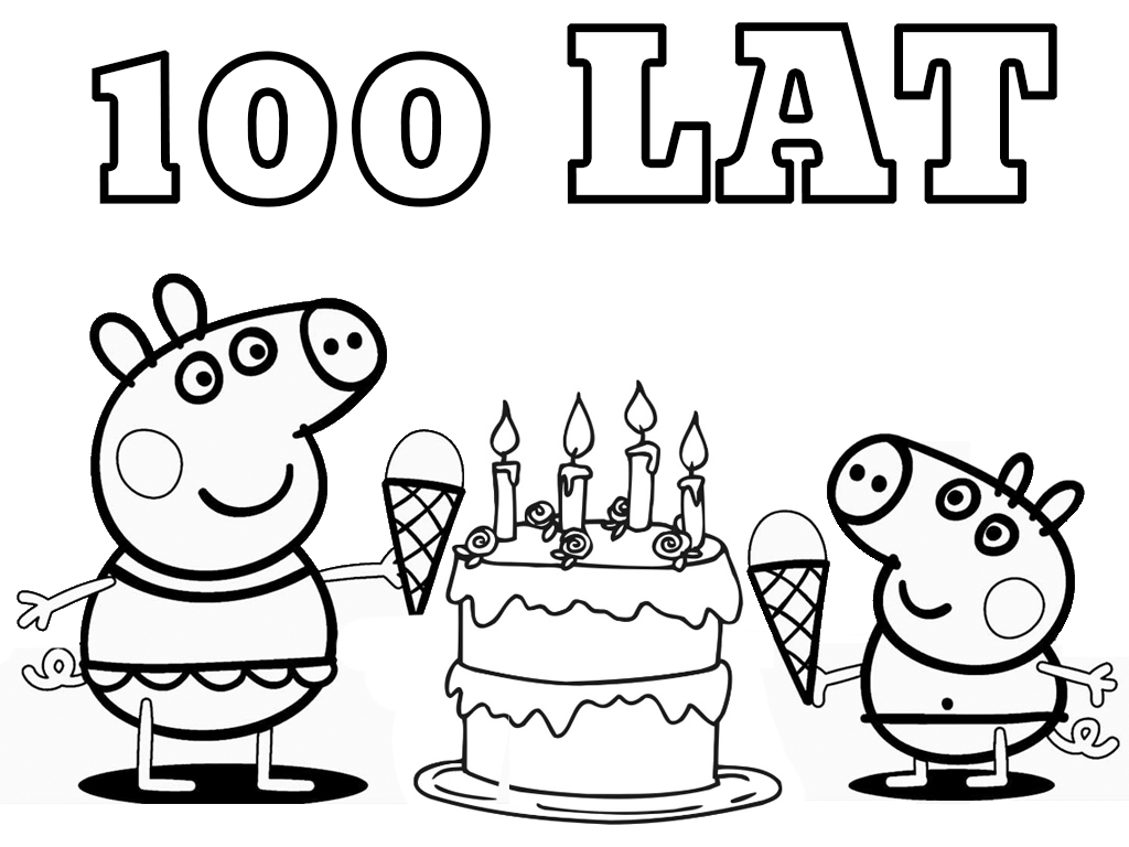 Swinka Peppa Tort Urodzinowy Kolorowanki Do Druku Za Darmo