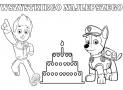 Urodzinowa kolorowanka Psi Patrol
