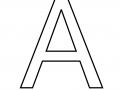 Litera A do druku – kolorowanka