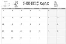 Kalendarz Lipiec 2019 do wydruku – Psi Patrol